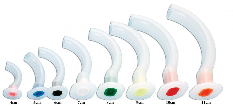 Airway, Guedel, Color Coded, 80mm, 10pk Image