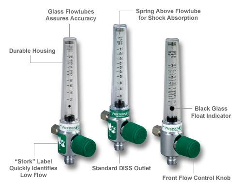 Flowmeter, O2, 0-3 LPM Image
