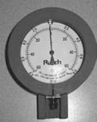 Gauge, Pressure, +/-, NIF Meter w/ Guard Image