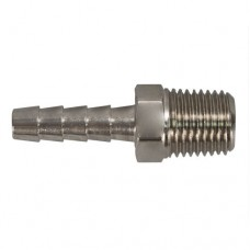 "Connector, Hose Barb, 1/4"" NPT M x 1/4"" Image"
