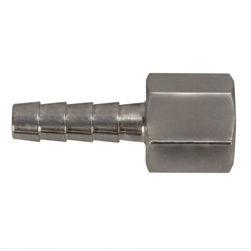 "Connector,Hose Barb,1/4"" NPT F x 1/4"" Image"