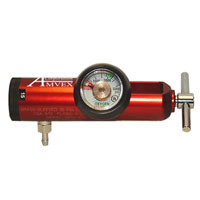 Regulator, O2, 870, 0-15LPM, Dial, Red Image